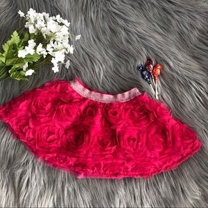 The Childrens Place Pink Floral Textured Tutu